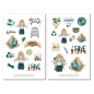 Preview: Girl Earth Sticker Set