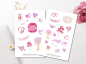 Preview: Valentine's Day Hearts Stickers Set