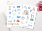 Mobile Preview: Arctic Animals Sticker Set