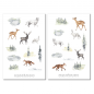 Mobile Preview: Autumn Animals Sticker Set