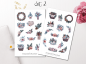 Preview: Winter Plants Sticker Set
