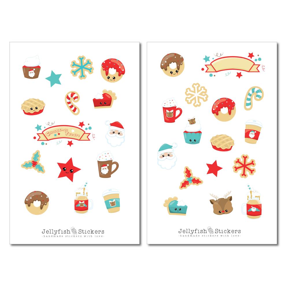 jellyfish stickers  weihnachten niedlich sticker set