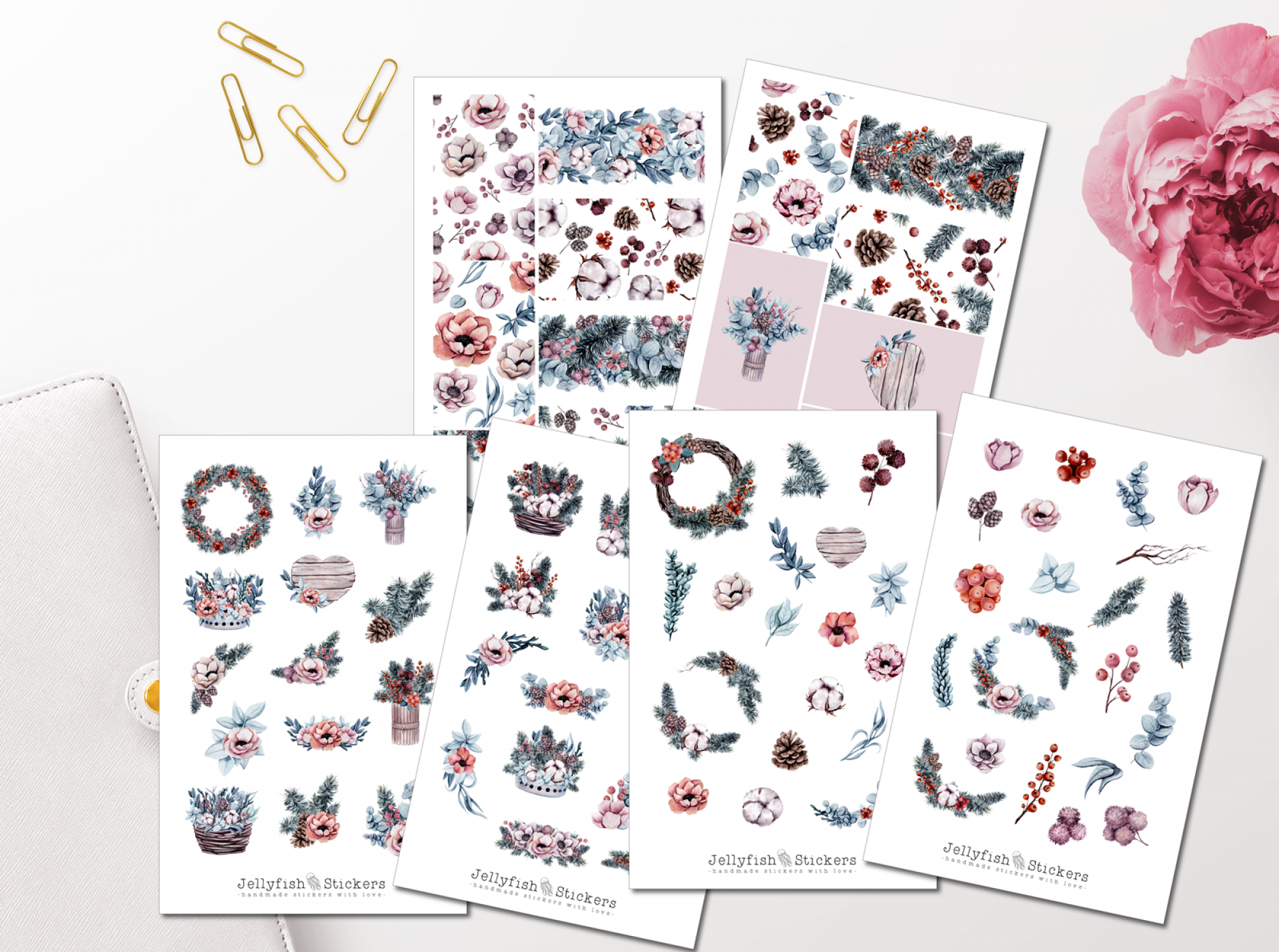Winter Plants Sticker Set