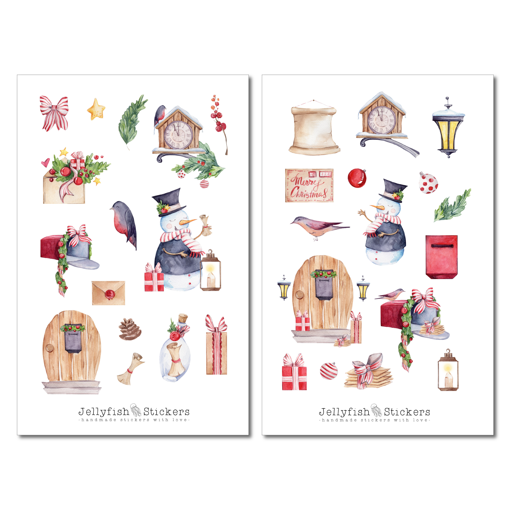 Christmas Snowman Sticker Set