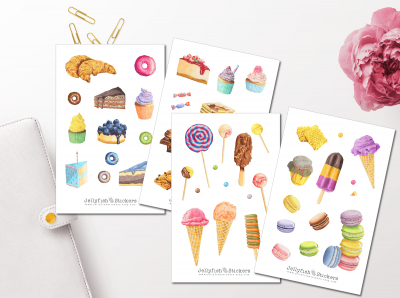 Sweet Pastry Sticker Set