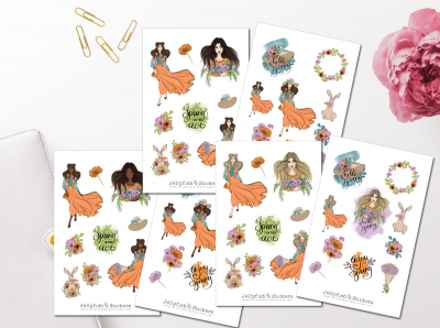 Hello Spring Sticker Set