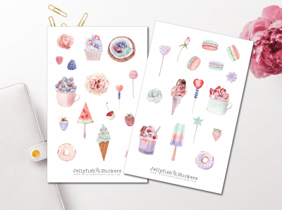 Pastel Candy Sticker Set