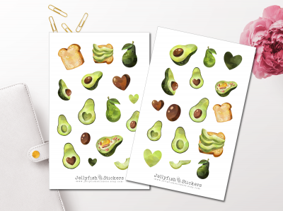 Avocado Sticker Set