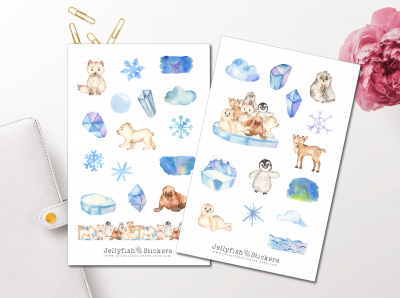 Arctic Animals Sticker Set