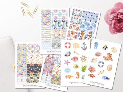 Maritime Sticker Set