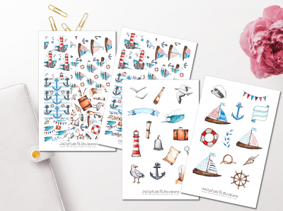 Maritime Seagulls Sticker Set