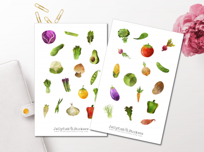 Vegetable Sticker Set