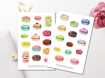 Colorful Macarons Sticker Set