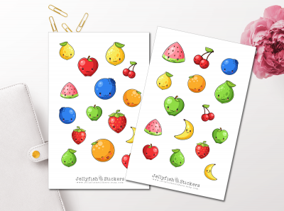 Cute Fruit Sticker Set