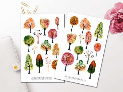 Fall Trees Sticker Set