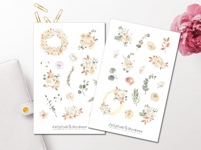 Autumn Flowers Sticker Set