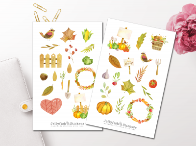 Fall Harvest Sticker Set