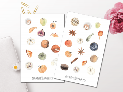 Autumn Food Sticker Set