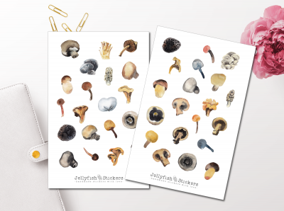 Autumn Mushroom Sticker Set