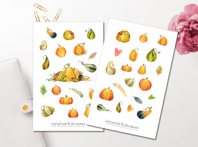 Pumpkins Sticker Set