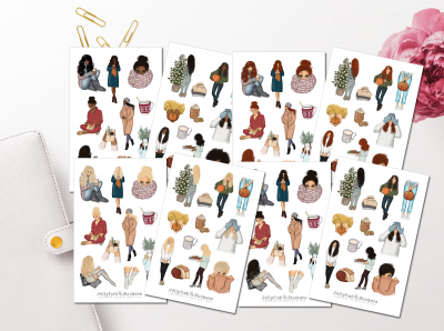 Cozy Girl Collection Sticker Set