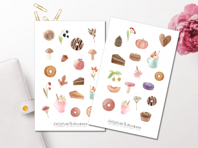 Autumn Pastry Sticker Set