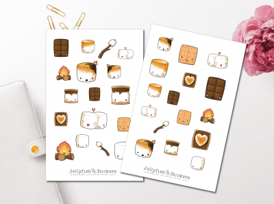Marshmallow Sticker Set