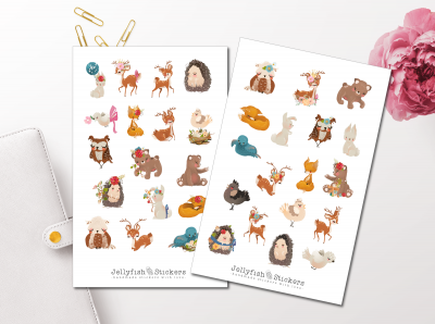 Forest Animals Sticker Set