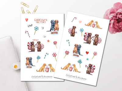 Dogs and Candy Sticker Set