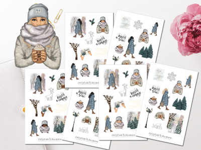 Girls Winter Sticker Set
