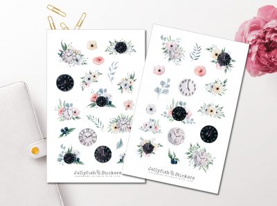 Flowers Time Sticker Set