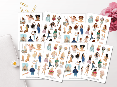 Spring & Summer Girls Collection Sticker Set