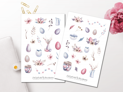 Easter Pastel Sticker Set