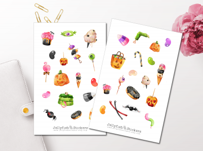 Halloween Candy Sticker Set