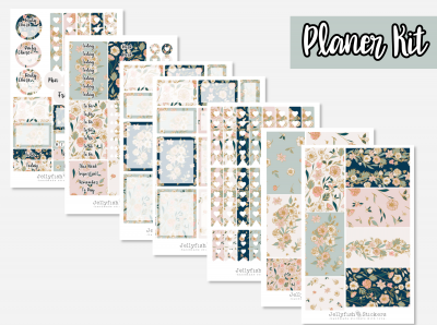 Flowers Planner Kit Sticker Set