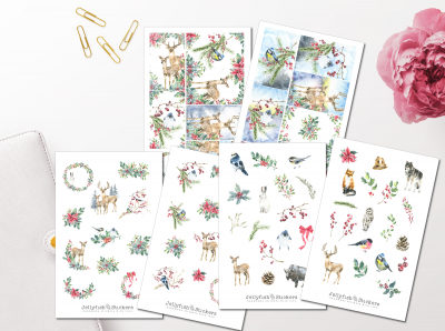Christmas Animals Sticker Set