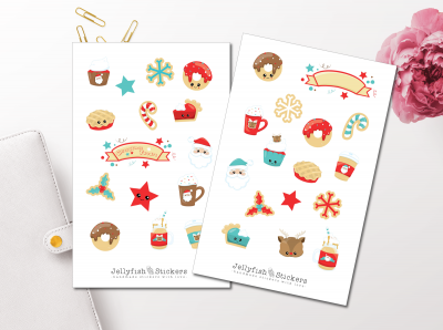 Christmas Cute Sticker Set