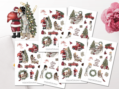 Girls Christmas Sticker Set
